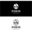 skull skeleton for pirates emblem logo design vector image