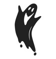 smile ghost icon simple style vector image