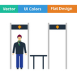 Stadium metal detector frame icon vector image vector image