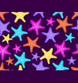 starfishes seamless pattern colorful starfish vector image