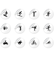 Stickers with games and sport icons vector image vector image