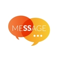 Text message logo vector image