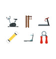 training aparat icon set flat style vector image
