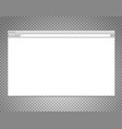 website window mockup isolated on transparent vector image vector image