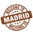 welcome to madrid vector image vector image
