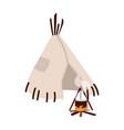 wigwam wickiup or wetu traditional tribal vector image