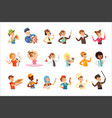 young men and women different professions set vector image