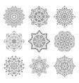Mandala set hand made sketch for your design vector image