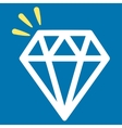 Crystal Icon from Commerce Set vector image