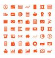 49 economy icons vector image vector image