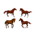 a set of realistic running and jumping beautiful vector image vector image