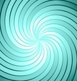 Abstract green ray twirl background vector image