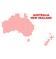 australia and new zealand map - mosaic of vector image vector image