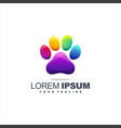 awesome dog foot logo design vector image vector image