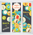back to school flat icons vector image vector image