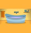 bathtub in yellow bathroom concept banner cartoon vector image vector image
