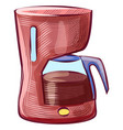 boiling coffee in kettle hot java drink vector image