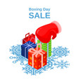 boxing day sale concept background isometric vector image