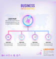 business presentation infographic template with 4 vector image