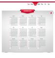 calendar design 2019 vector image vector image