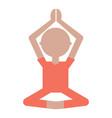 cartoon man practicing yoga vector image