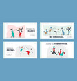 characters in stylish costumes dance modern dances vector image