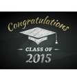 Class of Graduation Poster vector image