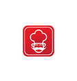 cooker with mustache smile and wear a big hat vector image vector image