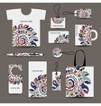 Corporate business style design tshirt labels mug vector image