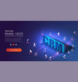 crm isometric banner internet business strategy vector image