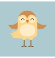 cute bird tender isolated icon vector image