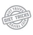 diet tricks rubber stamp vector image vector image