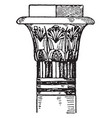 egyptian capital termination vintage engraving vector image vector image