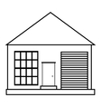 Family house icon outline style vector image vector image