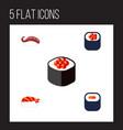 flat icon sashimi set of maki japanese food vector image vector image