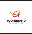 g fly travel company logo business travel logo vector image vector image