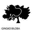 Gingko biloba icon simple style