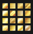gold gradient background textures set vector image vector image