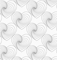 Gray unevenly striped hearts vector image