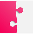 grey and pink piece puzzle jigsaw vector image vector image