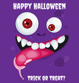 halloween background with cartoon expression vector image
