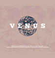 hand drawn venus planet vector image vector image