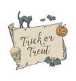 happy halloween trick or treat banner vector image vector image