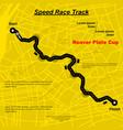 highway speed track in city vector image vector image