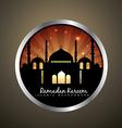 islamic label design vector image vector image