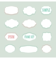 Isolated stylized frames logo set Vintage vector image vector image