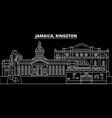 kingston silhouette skyline jamaica - kingston vector image vector image