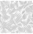 line seamless pattern abstract doodle geometric vector image vector image
