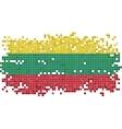 Lithuanian grunge tile flag vector image vector image