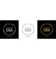 made in usa wreath icons vector image